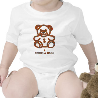 I Need A Hug Bear Brown The MUSEUM Zazzle Gifts Baby Bodysuits