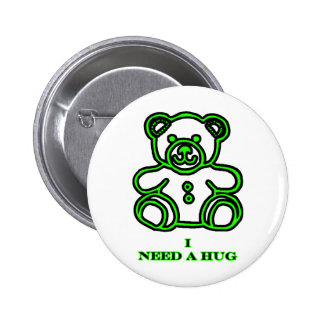 I Need A Hug Bear Green The MUSEUM Zazzle Gifts Pins