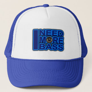 I NEED MORE BASS blue Dubstep-dnb-Club-Djay Trucker Hat
