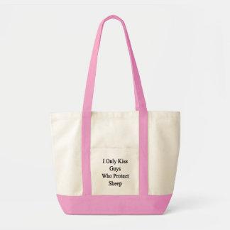 I Only Kiss Guys Who Protect Sheep Tote Bag