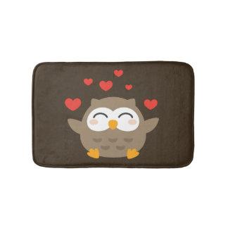 I Owl You Illustration Bath Mat