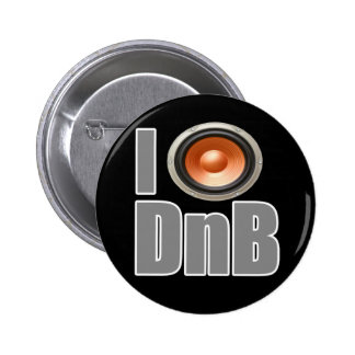 I PLAY DnB Drum and Bass music shirts and gear 6 Cm Round Badge