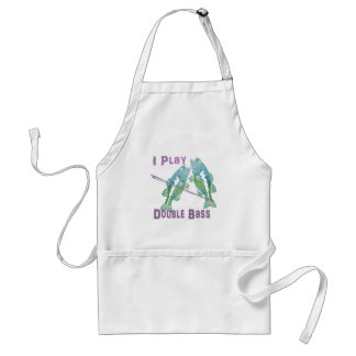 I Play Double Bass Fish Standard Apron