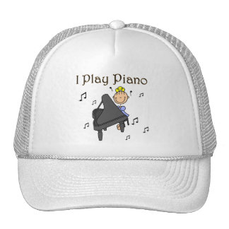 I Play Piano T-shirts and Gifts Mesh Hat