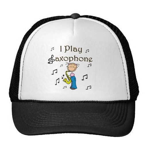 I Play Saxophone T-shirts and Gifts Mesh Hat