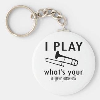 I play the trombone key ring