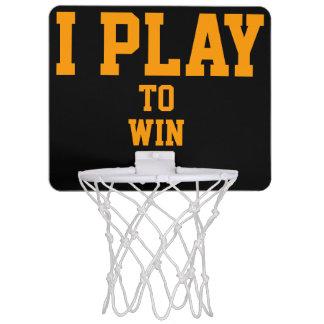 I PLAY TO WIN MINI BASKETBALL HOOP
