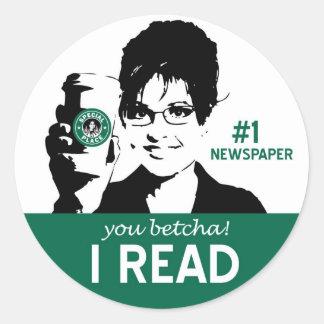 I Read Sticker