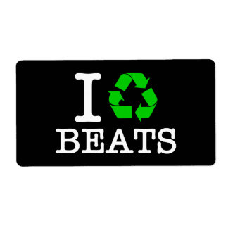 I Recycle Beats Shipping Label