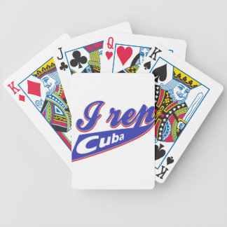 I Rep Cuban Bicycle Playing Cards
