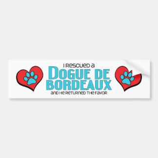 I Rescued a Dogue de Bordeaux (Male Dog) Bumper Sticker
