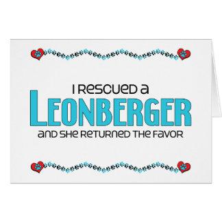 I Rescued a Leonberger (Female Dog) Card