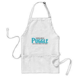 I Rescued a Puggle (Male) Dog Adoption Design Standard Apron