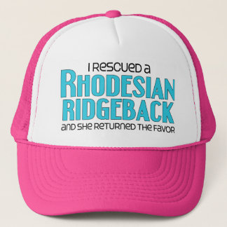 I Rescued a Rhodesian Ridgeback (Female Dog) Trucker Hat