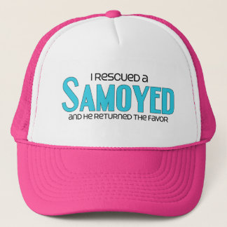 I Rescued a Samoyed (Male Dog) Trucker Hat