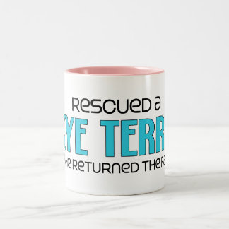 I Rescued a Skye Terrier (Male Dog) Two-Tone Coffee Mug