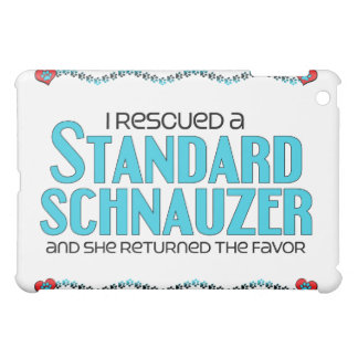 I Rescued a Standard Schnauzer (Female Dog) iPad Mini Cover
