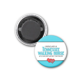 I Rescued a Tennessee Walking Horse (Female Horse) 3 Cm Round Magnet