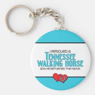 I Rescued a Tennessee Walking Horse (Male Horse) Keychains