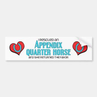 I Rescued an Appendix Quarter Horse (Female Horse) Bumper Sticker