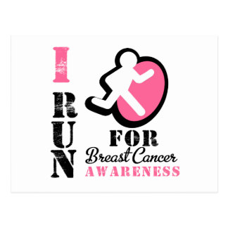 I Run For Breast Cancer Awareness Post Card