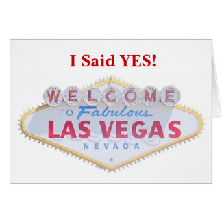 I Said YES! Las Vegas Save the Date Announcement C
