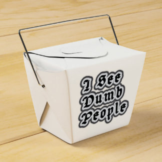 I See Dumb People Wedding Favour Box