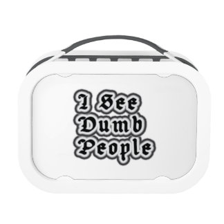 I See Dumb People Lunchboxes