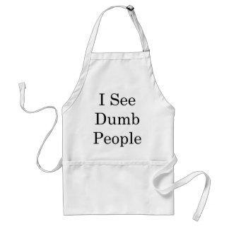 I See Dumb People Standard Apron