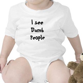 I see Dumb People Bodysuit