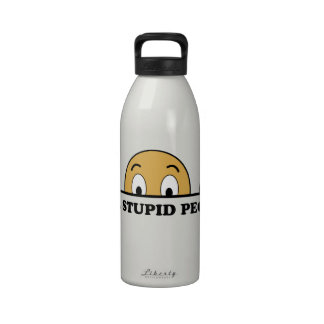 I See Stupid People Reusable Water Bottle