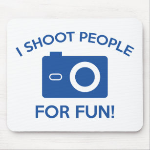 funny shooting mouse pads zazzle co nz