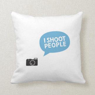 I shoot people, Love Portrait Photography cushion Throw Pillows