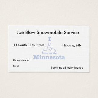 I Snowmobile Minnesota Business Card