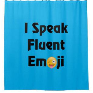 I Speak Emoji Shower Curtain