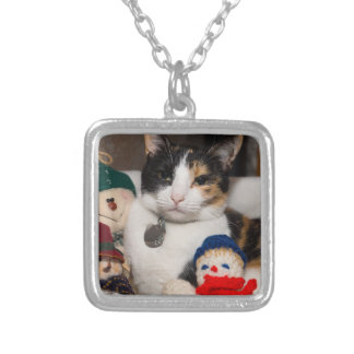 I Spy A Calico Silver Plated Necklace