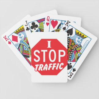 I STOP Traffic with a red stop sign Bicycle Playing Cards