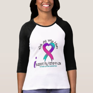 I Support My Father-In-Law Thyroid Cancer T-Shirt