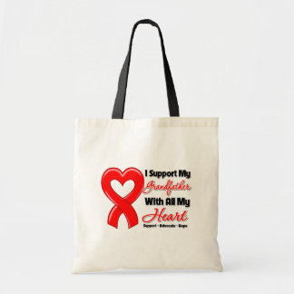 I Support My Grandfather With All My Heart Budget Tote Bag