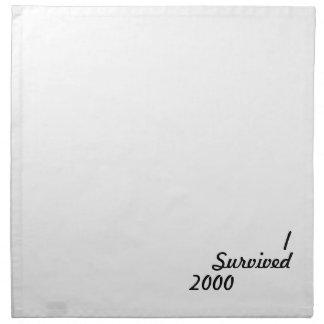 I survived 2000! napkin
