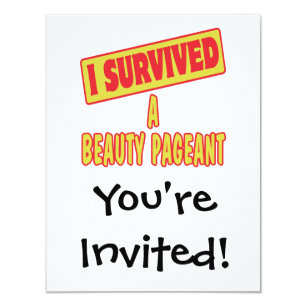 Beauty Pageants Invitations Announcements Zazzle Nz