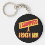 I SURVIVED A BROKEN ARM BASIC ROUND BUTTON KEY RING