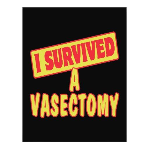 I SURVIVED A VASECTOMY FULL COLOR FLYER