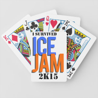 I Survived ICE JAM 2K15 Bicycle Playing Cards