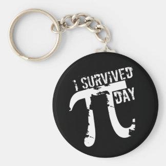 I Survived Pi Day - Funny Pi Day Key Ring