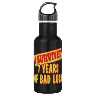 I SURVIVED SEVEN YEARS OF BAD LUCK 532 ML WATER BOTTLE