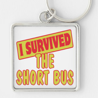 I SURVIVED THE SHORT BUS KEY CHAIN