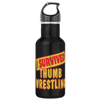 I SURVIVED THUMB WRESTLING 532 ML WATER BOTTLE