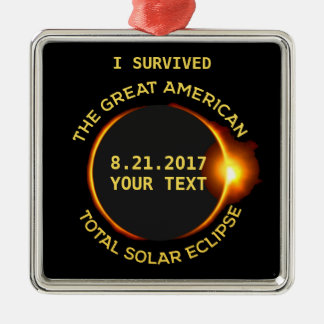 I Survived Total Solar Eclipse 8.21.2017 USA Christmas Ornament