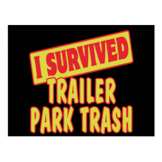 I SURVIVED TRAILER PARK TRASH POST CARDS